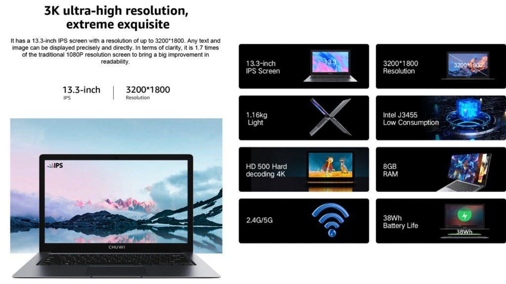 CHUWI HeroBook Pro+ за 281,66 доллара США: ограниченная по времени распродажа