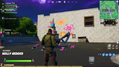 Вызовы на день рождения Fortnite начнутся в 2020 году. Вы должны танцевать перед 10 праздничными тортами, чтобы получить обертку для оружия Cakey. Fortnite теперь доступен на PS4, Xbox One, Switch, ПК и Android.