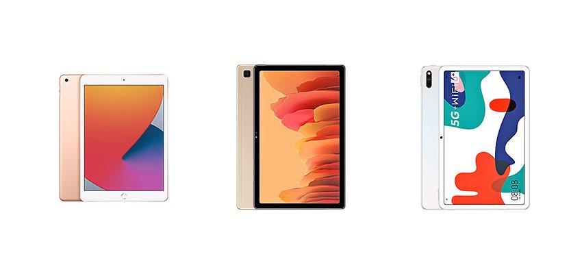 iPad 8-го поколения против Samsung Galaxy Tab A7 против Huawei MatePad 5G: сравнение характеристик