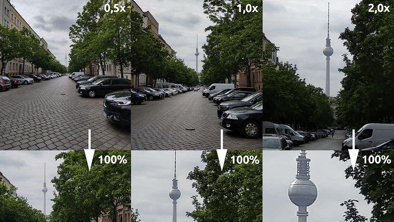 Фокусные расстояния качества изображения Motorola Edge