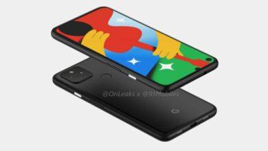 Photo of Рендеры Pixel 4a 5G показывают практически идентичный дизайн версии LTE.
