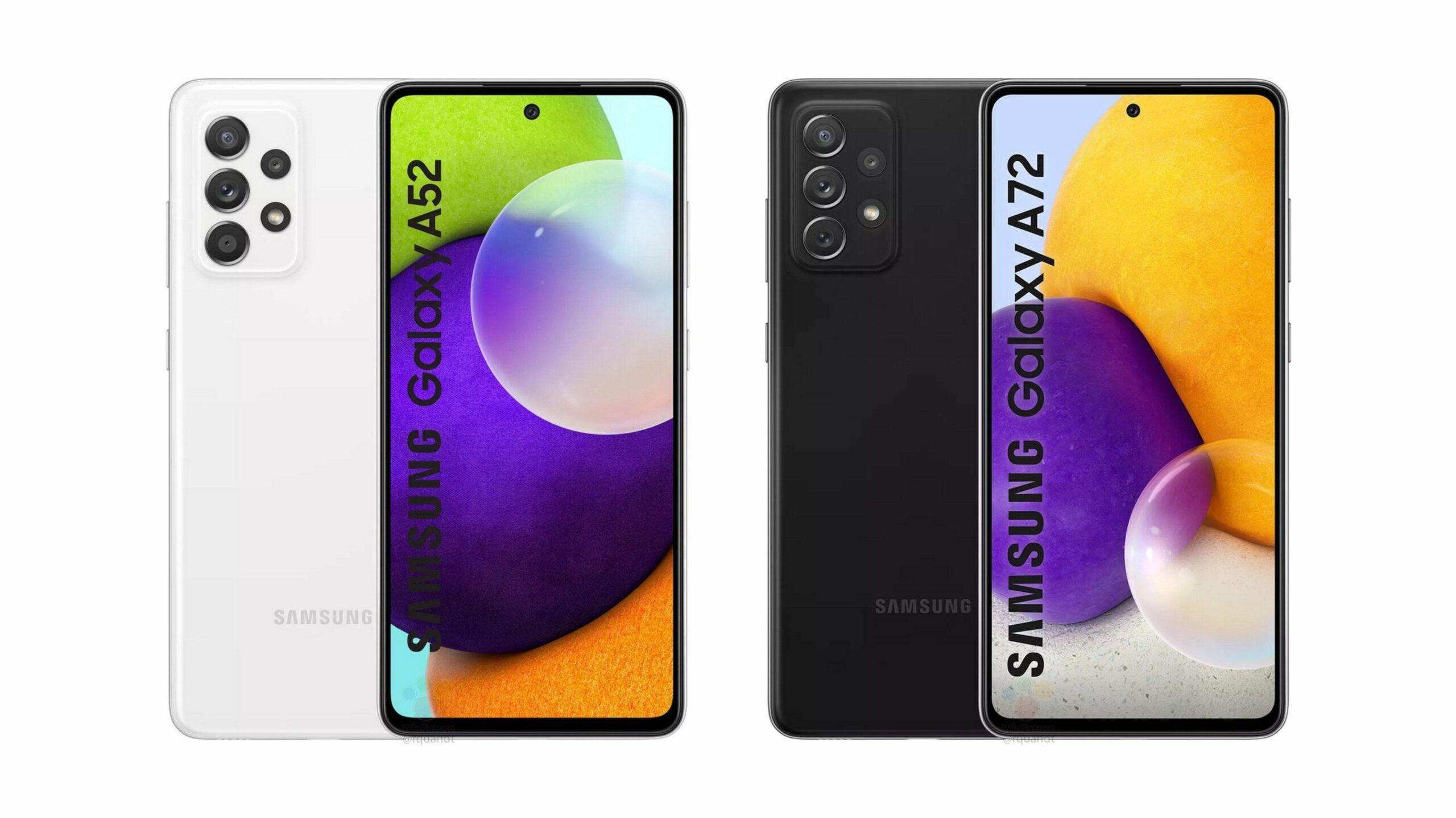 Samsung Galaxy A52 A72 Render Leak