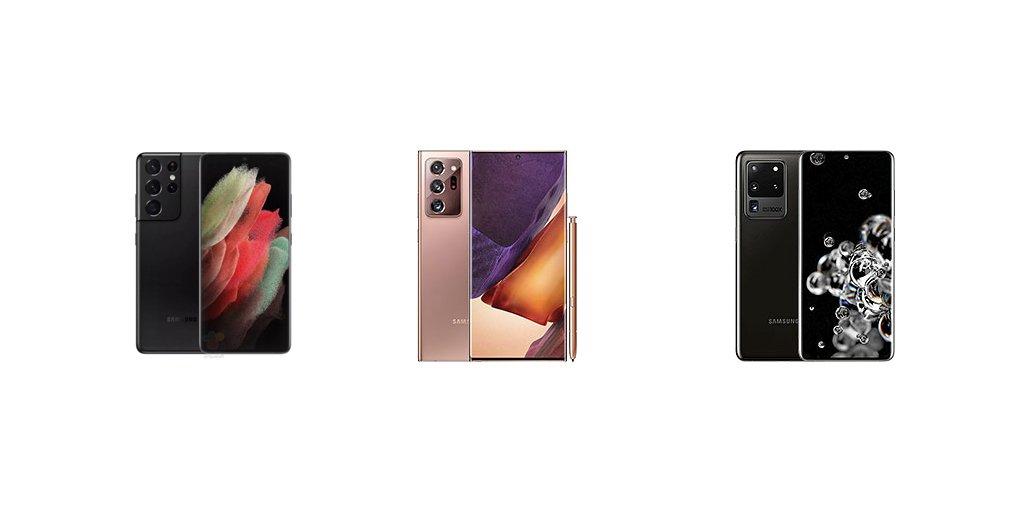 Samsung Galaxy S21 Ultra против Note 20 Ultra против S20 Ultra