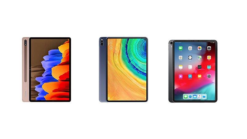 Samsung Galaxy Tab S7+ против iPad Pro против Huawei MatePad Pro