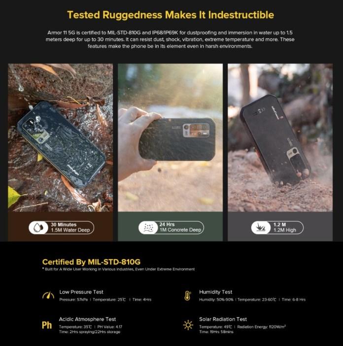 Ulefone Armor 11 - водонепроницаемый, прочный смартфон